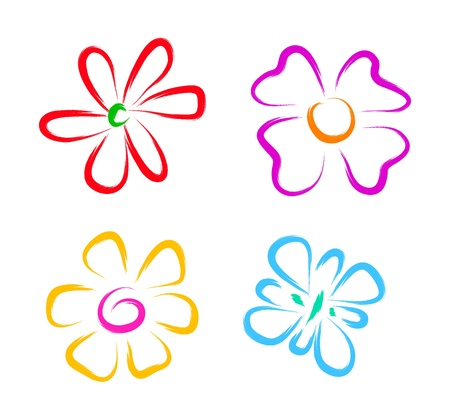 flower sketch: sketch of flowers