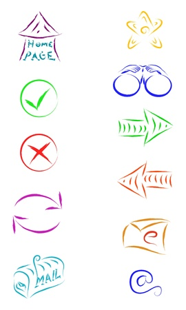 sketch vector of web internet icons Stock Vector - 16454194
