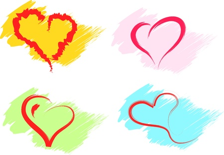 hearts set vector Stock Vector - 16550107