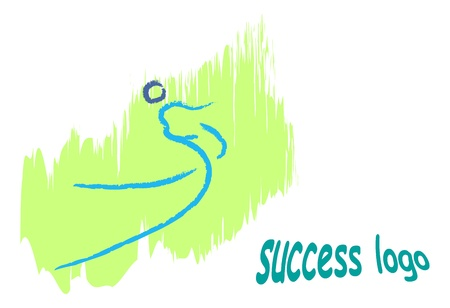 corporate success logo with abstract human figure Stock Vector - 16550104