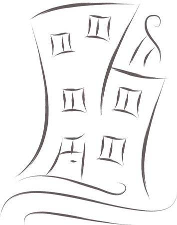 sketch: abstract house sketch