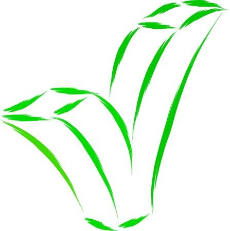 green tick: green tick ok sketch