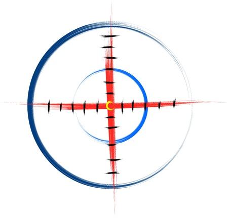 hand drawn target illustration Stock Vector - 16609519