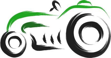 old tractor: oude retro vintage tractor vector illustratie Stock Illustratie