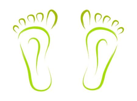 pies: bosquejo de pies extracto rastrea vector