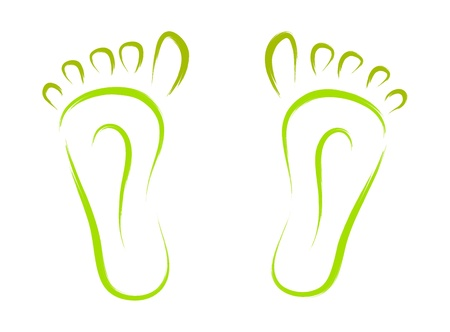 sketch of abstract feet tracks vector