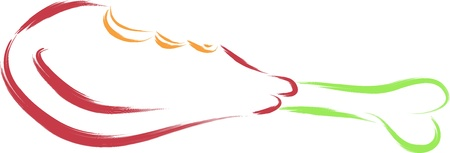 delicious chicken leg vector illustration Stock Vector - 16699520