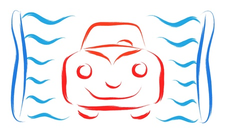 abstract car wash symbol vector illustration Stock Vector - 16699536