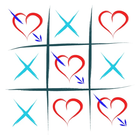 toe: tic tac toe with hearts love win