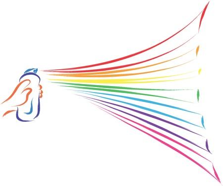spray painting rainbow colors vector Stock Vector - 16699525