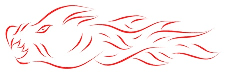 red dragon abstract vector Stock Vector - 16754910