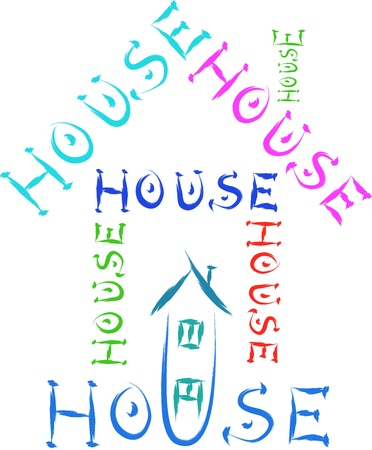 house made of words sketch Stock Vector - 16748099