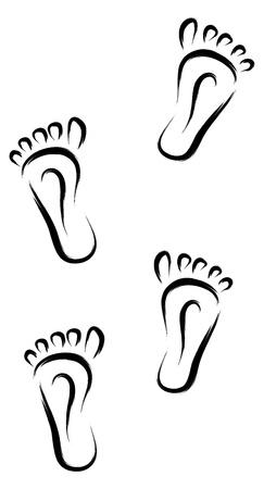 black feet tracks walking