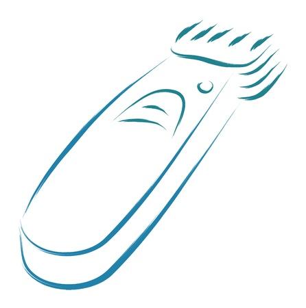 gestileerde elektrische tondeuse schets