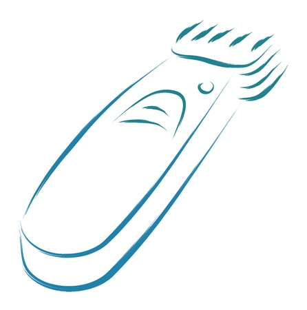 electric razor: stylized electric hair clipper sketch