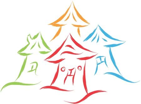 house logo abstract  illustration Stock Vector - 16806844