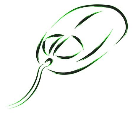 logo informatique: illustration croquis souris d'ordinateur
