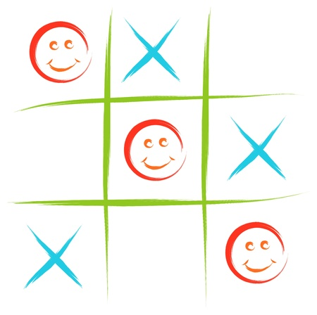 toe: smiley tic tac toe game  sketch