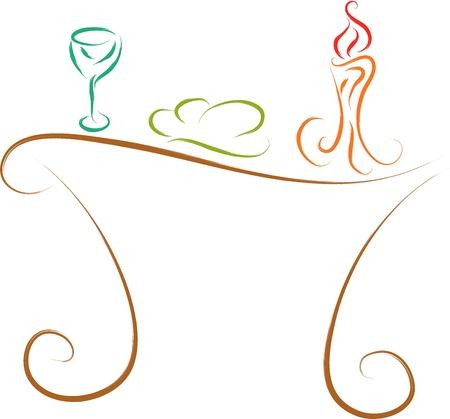avondmaalstafel, traditionele christelijke symbolen Vector Illustratie
