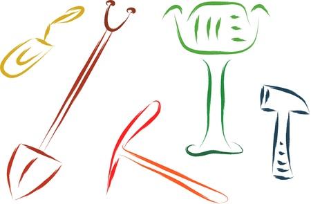 sander: set of construction tools  illustration