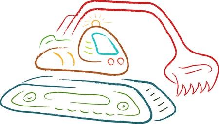 szkic rysunku ilustracji koparki Zdjęcie Seryjne - 16806930