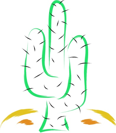 abstract cactus doodle sketch Stock Vector - 16850623