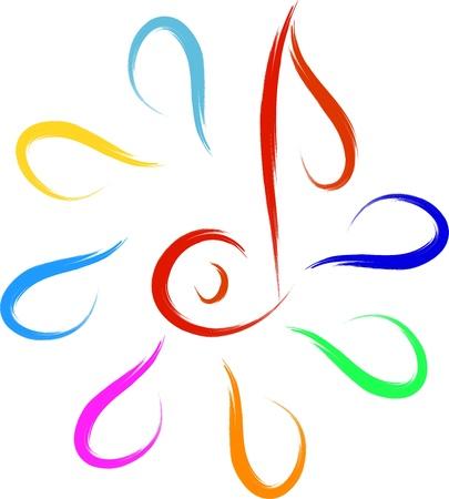 music symbol: music symbol abstract sketch