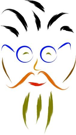 cartoon teacher face Stock Vector - 16850446