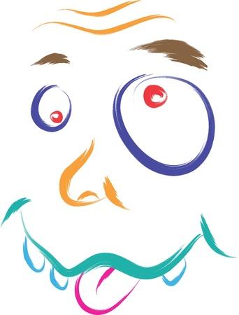 dumb: dumb face cartoon illustration Illustration