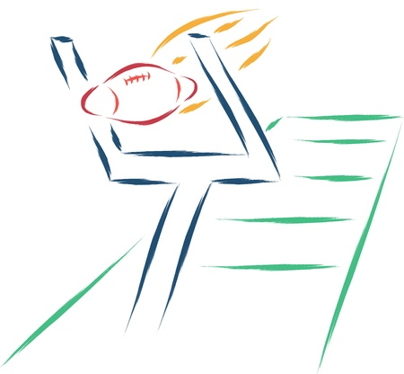 abstract rugby sketch vector Stock Vector - 16887333