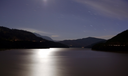 tranquillity: lake at night