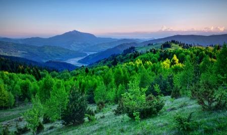 fresh landscape of mountain, Romania photo