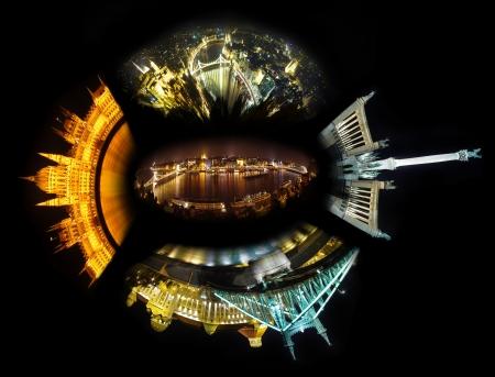 Budapest night collage photo