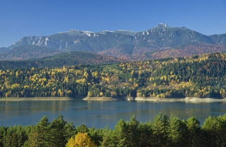 Autumn landscape on mountain photo