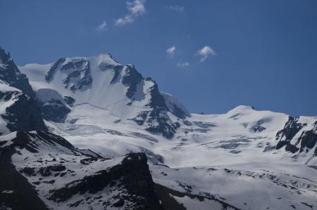 aosta: Gran Paradiso  4061m  in Aosta valley, Italy Alps Stock Photo
