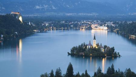 julian: Bled Lake in Julian Alps, Slovenia Stock Photo