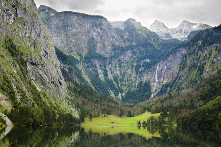 Obersee lake in Bavaria Alps Germany photo