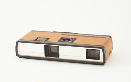 viewfinder vintage: old retro style pocket photo camera on film Stock Photo