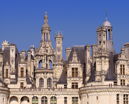 chambord: view of the royal castle of Chambord, France