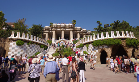 guell: Guell park in Barcelona, Spain