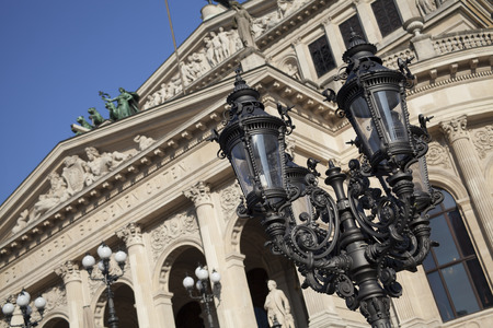 oper: details of old Opera House in Frankfurt am Main city