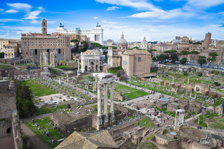 monument historical monument: Roman Forum in Rome Italy