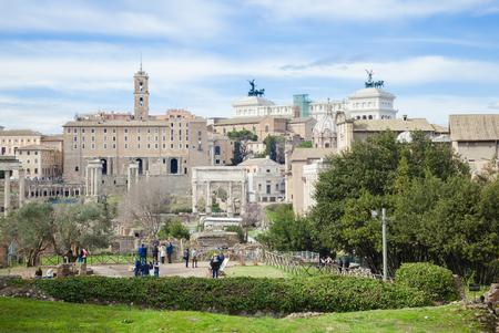 historical monument: Roman Forum view