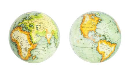 Earth-Globus der Welt isoliert auf weiß