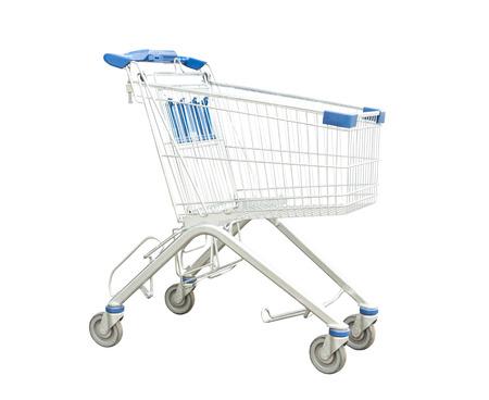 分離されたショッピングカート 写真素材