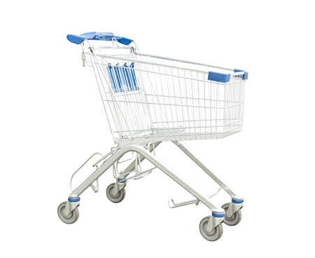 shopping cart isolated Reklamní fotografie