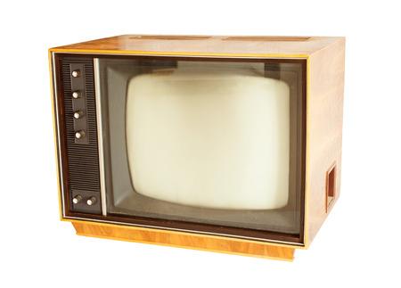 retro tv: retro tv old style photo isolated