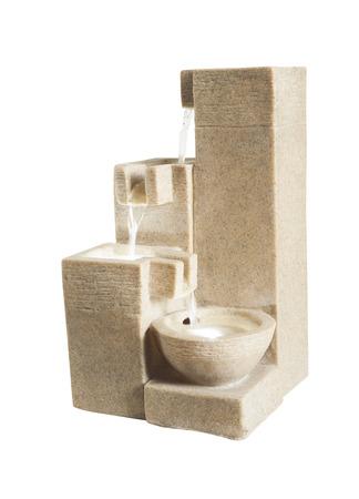 beauty fountain: modern water fountain Stock Photo