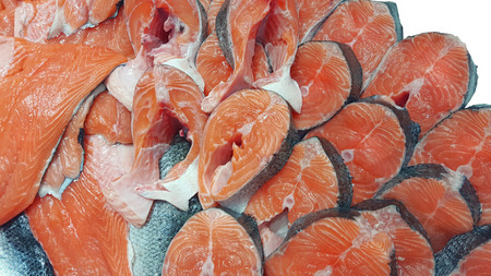 red salmon fish texture