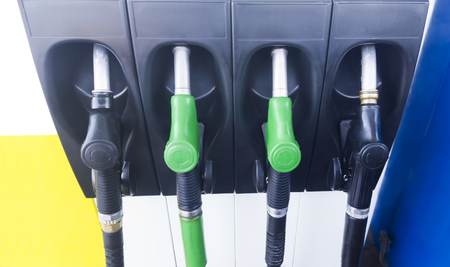 octane: fuel pumps at gas station